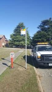 Bus stop inside Magnuson Park