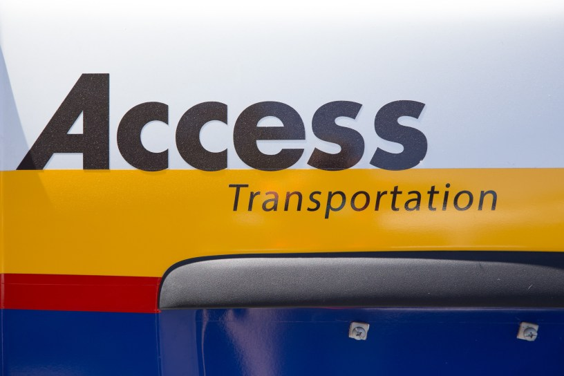 Access logo on side of van