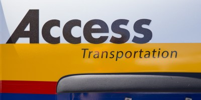 Access logo on side of van