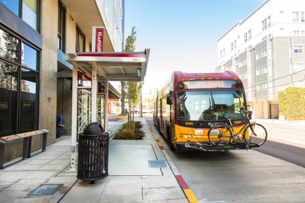 RapidRide stop on Avalon Way