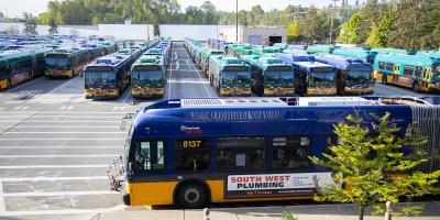 Metro bus at South Base