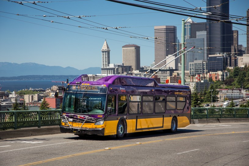 Route 36 bus heads for Beacon Hill