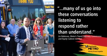 Lin Robinson – member of Metro's Transit Advisory Commission and Equity Cabinet participant