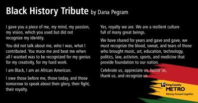 Black History Tribute--Dana Pegram