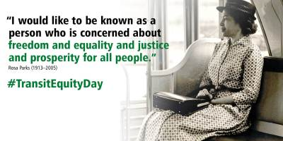 Rosa Parks and Transit Equity Day