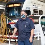 Maintaining light rail trains
