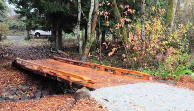 One more salvaged-wood bridge, White Center Heights Park