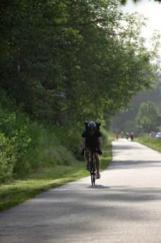 Cyclist on Burke-Gilman