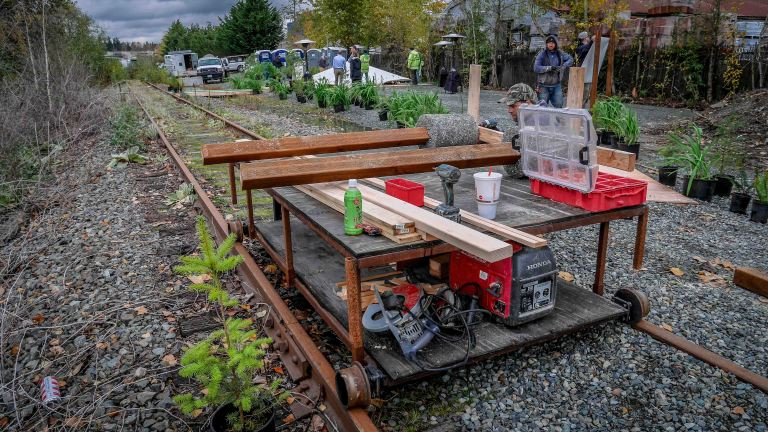 One sweet rail-car made by our King County Small Contracts crew