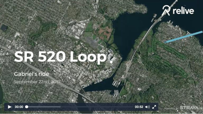 SR 520 Loop Ride on Relive