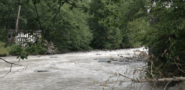 White River bridge location