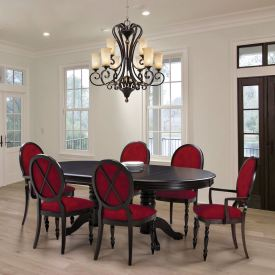 Oval X Back Dining Set