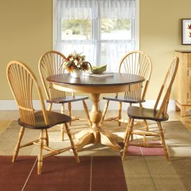 Wheatback Round Dining Set