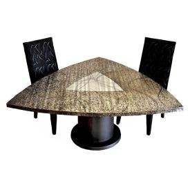 Tristar Dining Table with Round Pedestal
