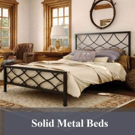 Solid Metal Beds