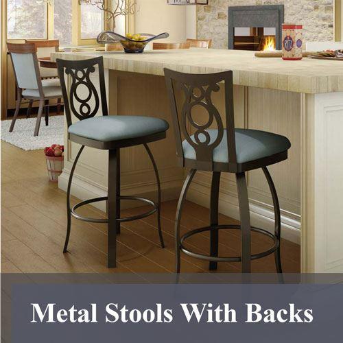 Metal Stools With Backs