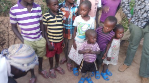 orphans in new sandals
