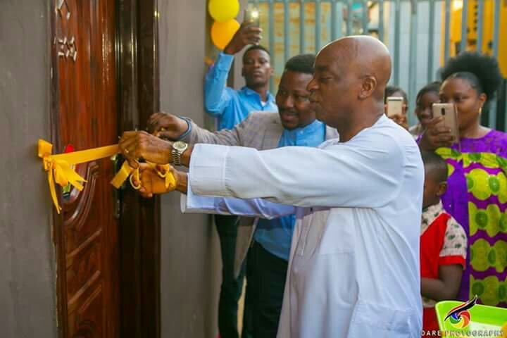 Bishop Oyedepo Dedicates Music Studio For One Of His Choir Leaders (Photos)