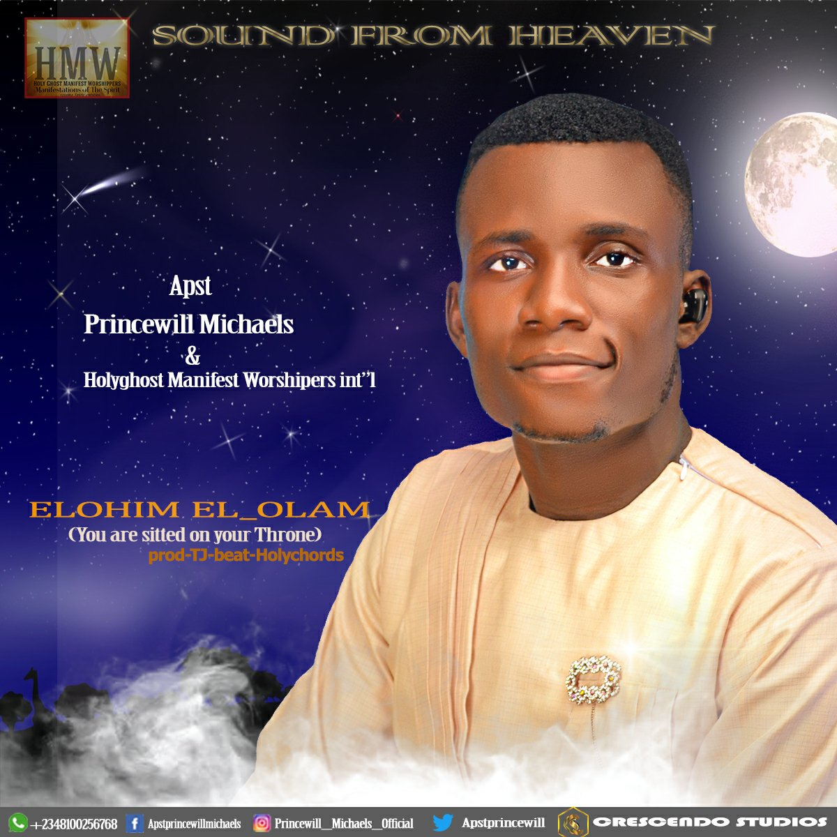 DOWNLOAD Music: Apst Princewill Michaels Elohim_el-olam  (You Are Sitted On Your Throne)