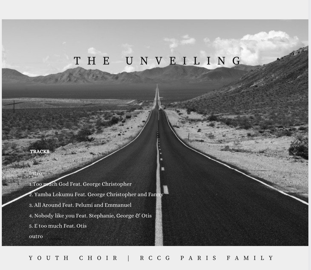 """Youth Choir Of Rccg Paris Releases Debut Album """"The Unveiling"""" & A Video """"Too Much God"""""""