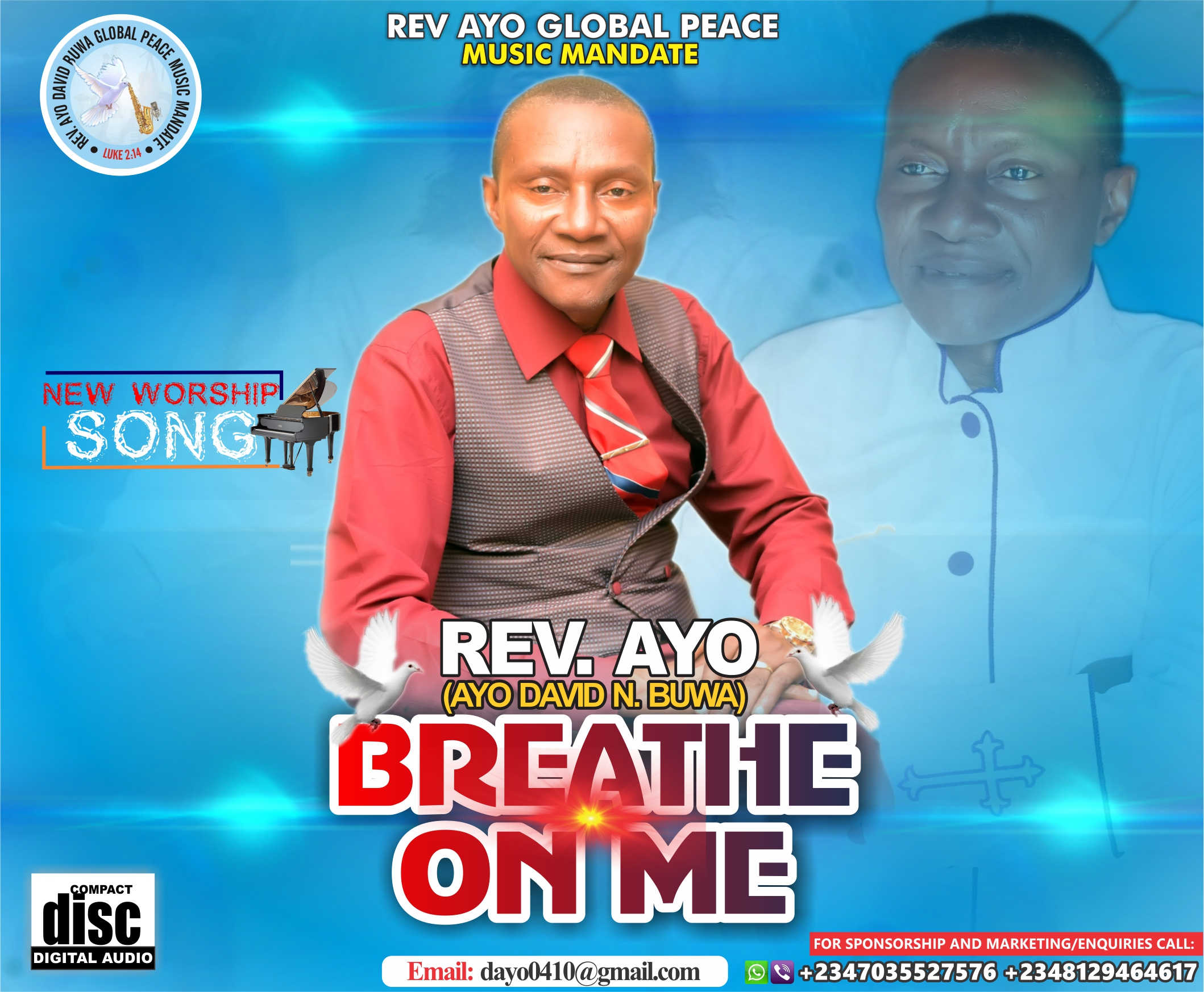 DOWNLOAD Music: Rev AYO – Peace My World Infinity + Breathe on Me