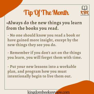 reading tips for the month of october