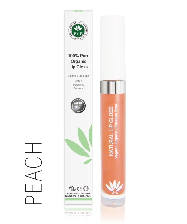PHB Ethical Beauty lipgloss peach