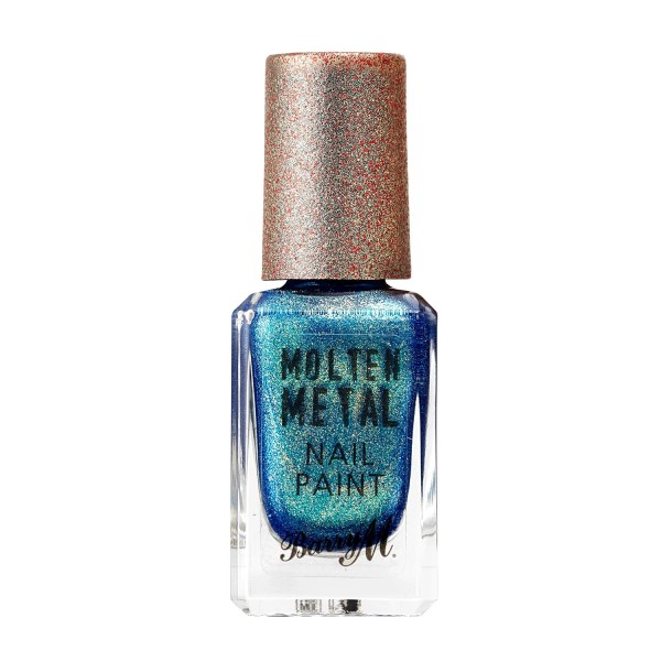 Barry M molten metal nail varnish crystal blue