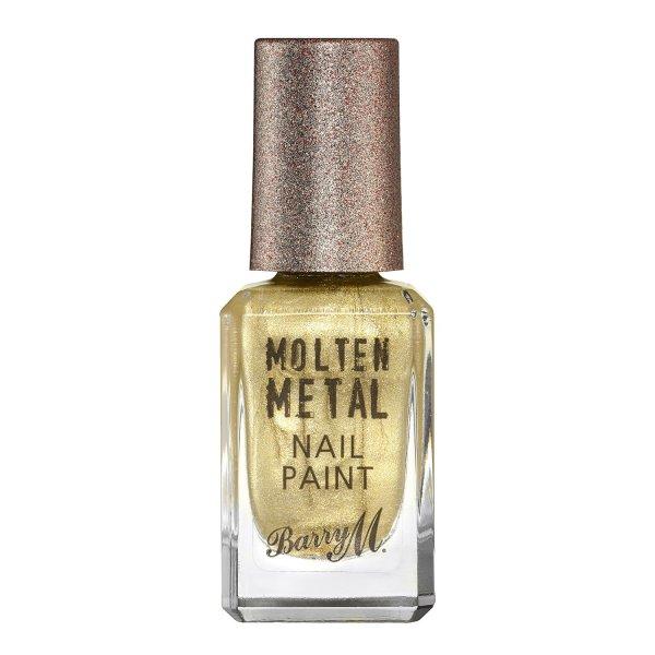 Barry M molten metal nail varnish gold digger