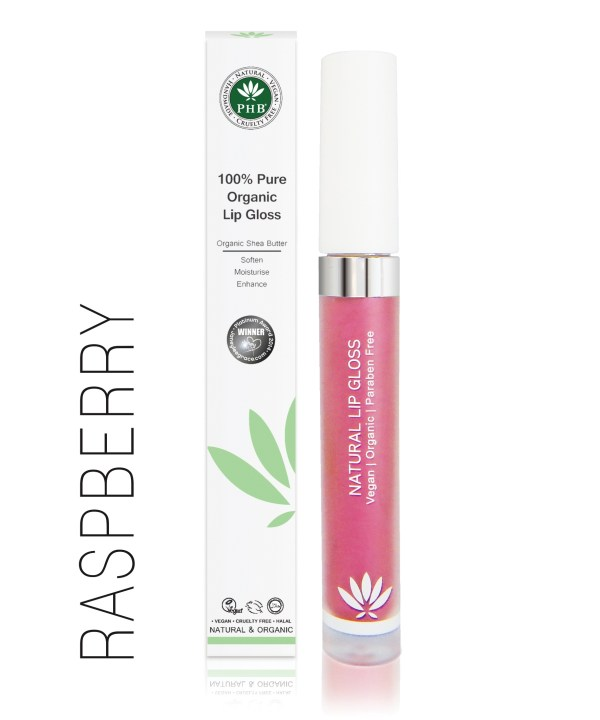 PHB Ethical Beauty lipgloss raspberry