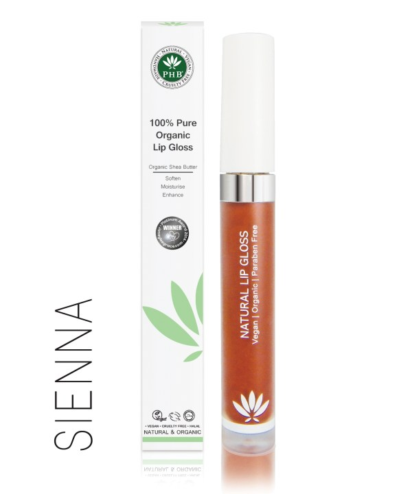 PHB Ethical Beauty lipgloss sienna