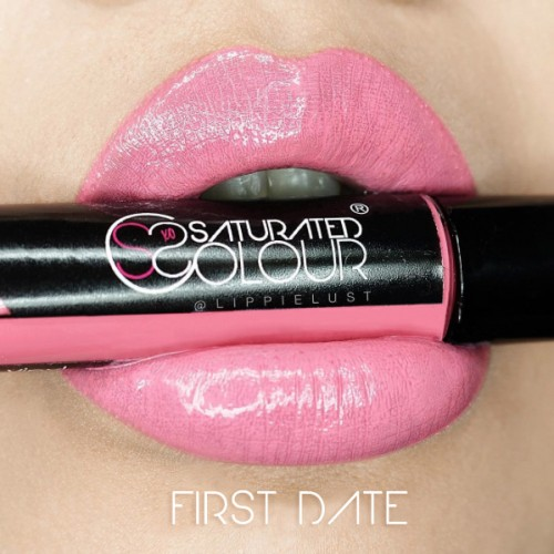 Saturated colour lip vinyl first date
