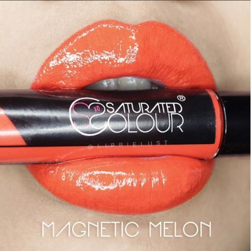 Saturated colour lip vinyl magnetic melon
