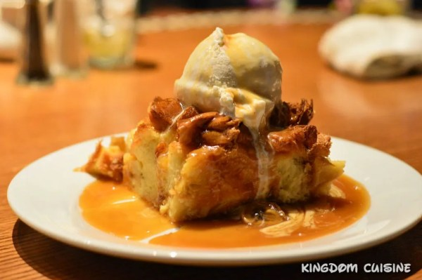 'Ohana Bread Pudding with Bananas Foster Sauce