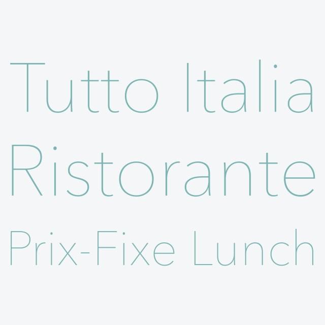 TuttoItaliaRistorantePrixFixe