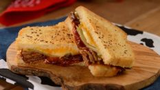 BBQ Brisket Melt on Butter-Grilled Sourdough