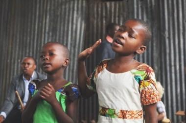 Children during worship
