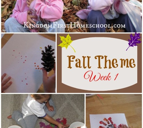 FALL themed Activities – Week 1