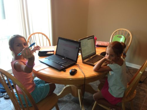 The girls on computers