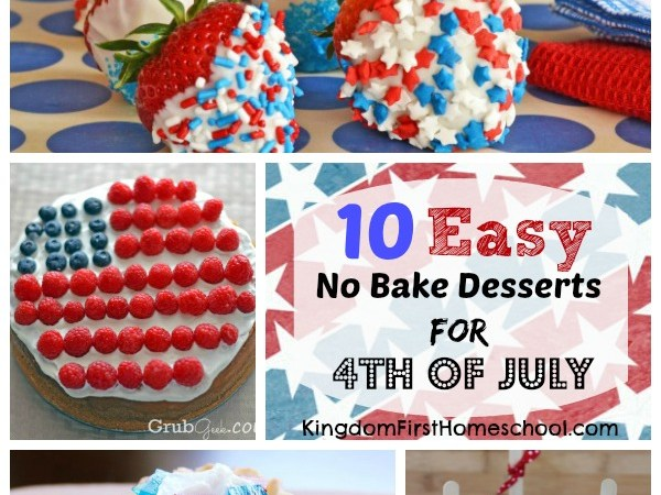 10 Easy No Bake Desserts for 4th of July