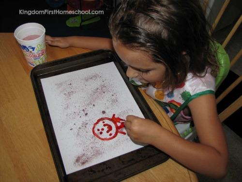 Q-tip Kool-aid painting
