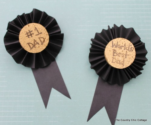 Kids craft fathers day medal