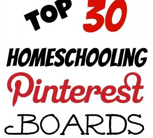 Top 30 Homeschooling Pinterest Boards