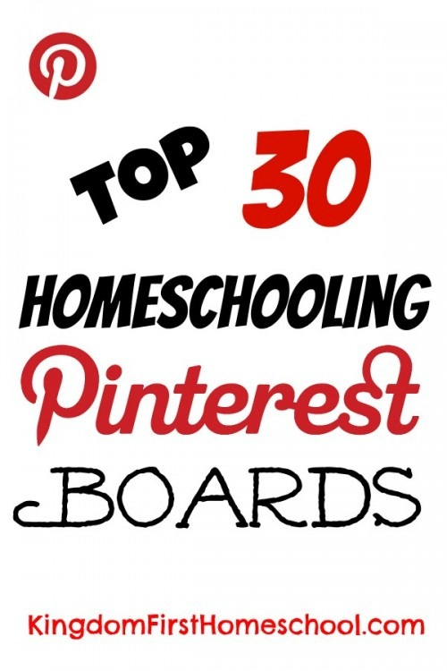 The Pinterest homeschool community is amazing. You can find lots of great new tips, resources and encouragement for your homeschool. Here are the top 30 homeschooling Pinterest boards that you will want to follow today.