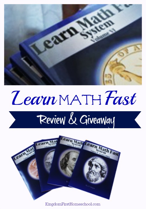 Learn Math Fast Review and Giveaway