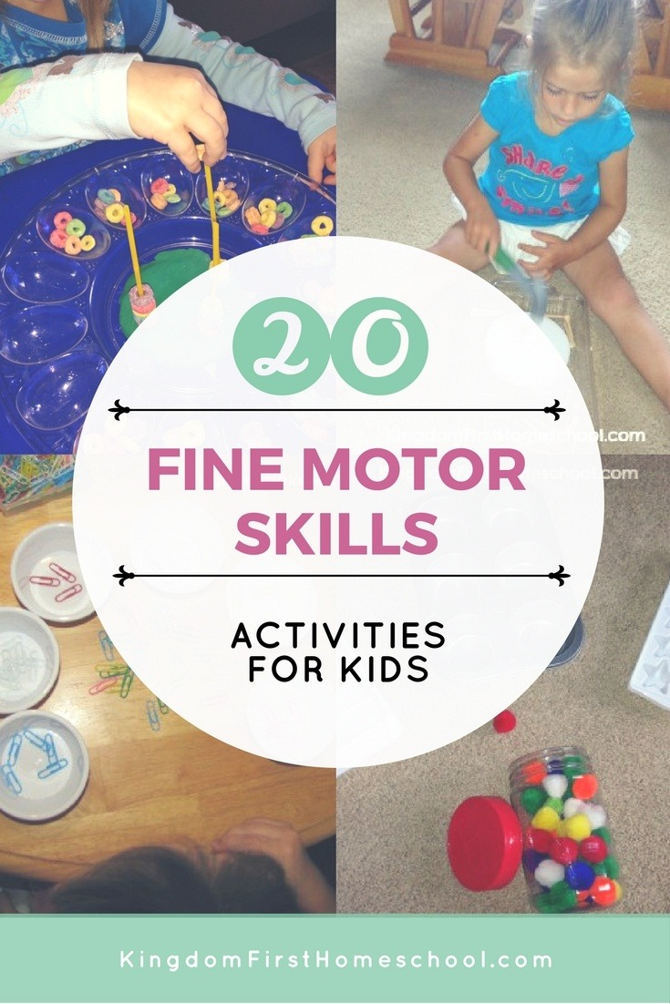 20 fine motor skills activities for preschoolers. Black Bedroom Furniture Sets. Home Design Ideas