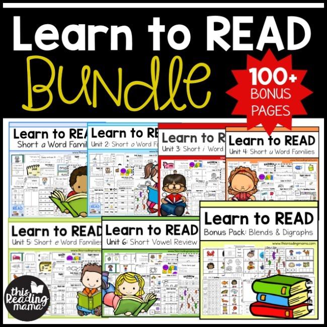 Learn to Read Bundle - Homeschool Preschool Curriculum
