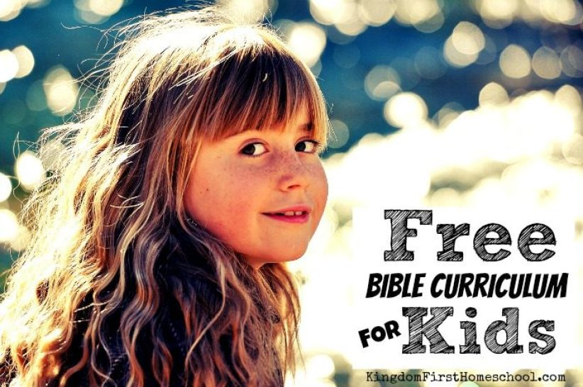 Buying curriculum is expensive enough, let alone having to buy bible curriculum also. But did you know there are a lot of free options available for your bible studies for kids. Here's a list of Free Bible Curriculum for kids to use in your homeschool, Sunday School or family devotional time.