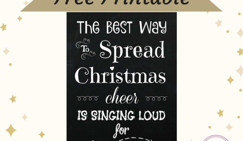The Best Way to Spread Christmas Cheer is…