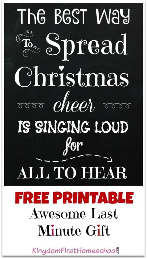 the best way to spread Christmas cheer is for singing loud for all to hear. Spread some Christmas Cheer for all with this FREE printable.